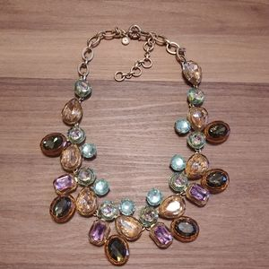 Jewel Box multicolor crystal cluster necklace